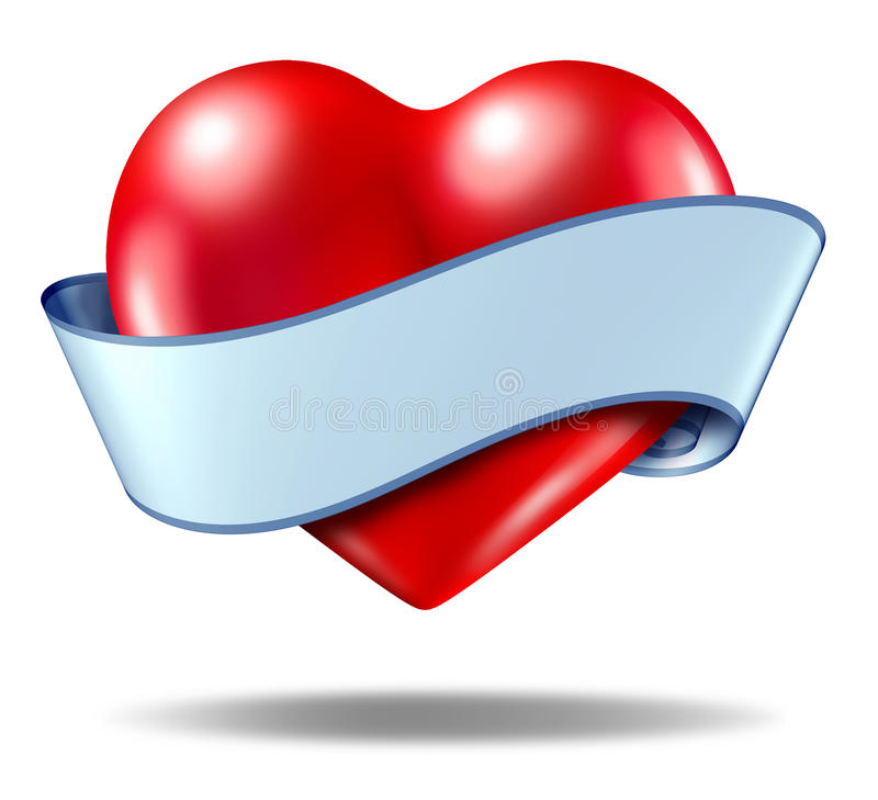 Download Heart Concept And Love Icon With A Blank Ribbon Stock Illustration - Image: 22400469
