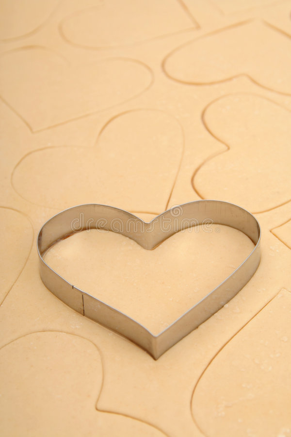 Download Heart cookie cutter stock photo. Image of creativity, holiday - 450094