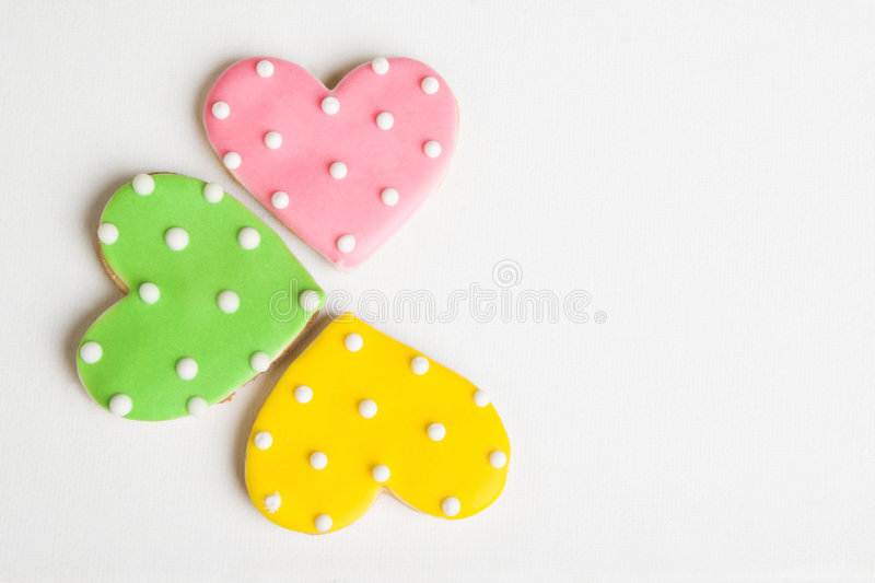 Download Heart Cookies stock image. Image of baked, white, dots - 9126591