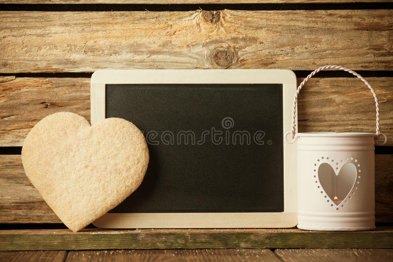 Heart of the cookies. stock photos