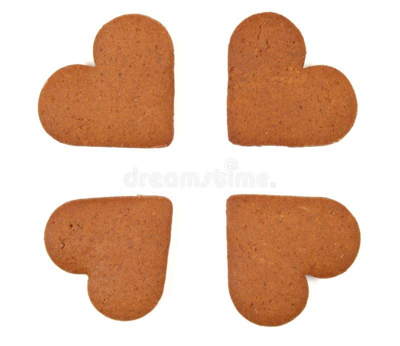 Heart cookies - love gift stock image
