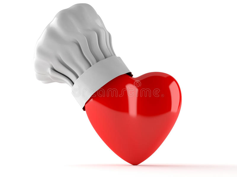 Heart with cooking hat vector illustration