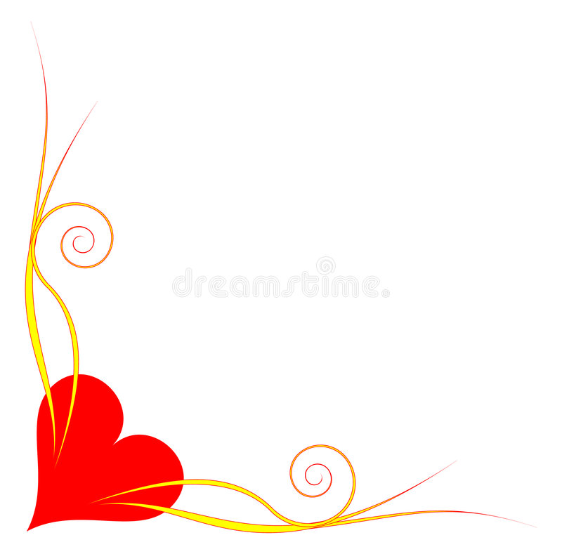 Heart corner vector illustration