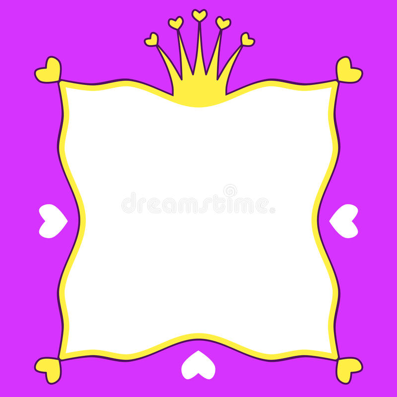Heart crown frame invitation party royalty free illustration