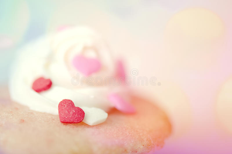 Heart Cupcake stock photo