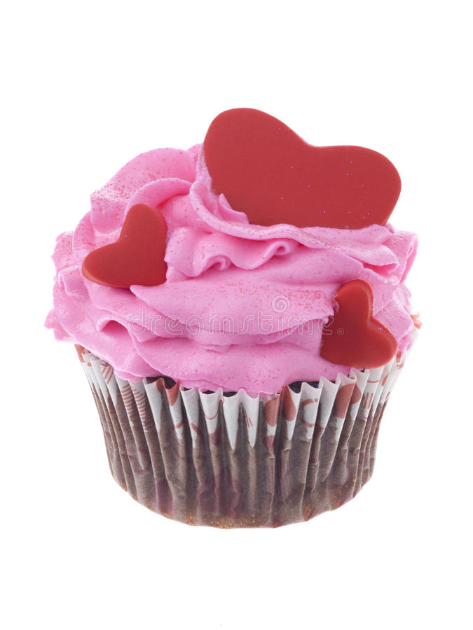 Heart cupcake stock images