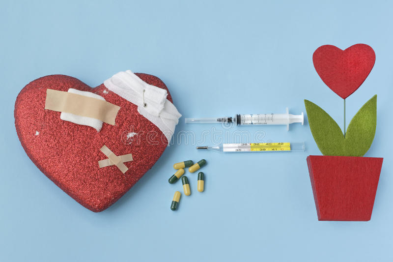 Heart cure and transplant royalty free stock photography