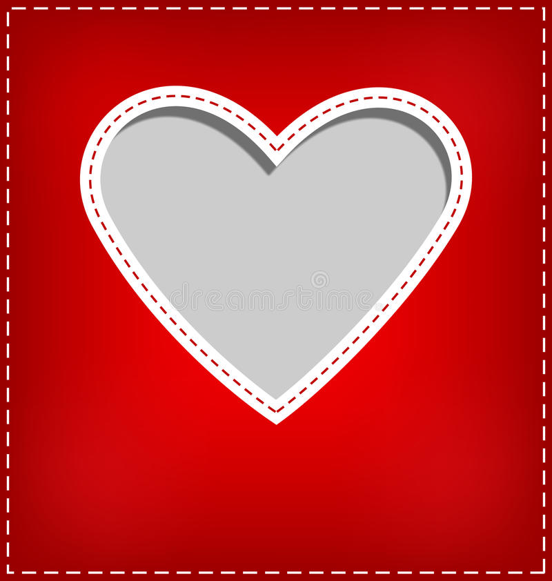 Free Heart Cutout In Red Card On Grey Stock Photos - 48645803
