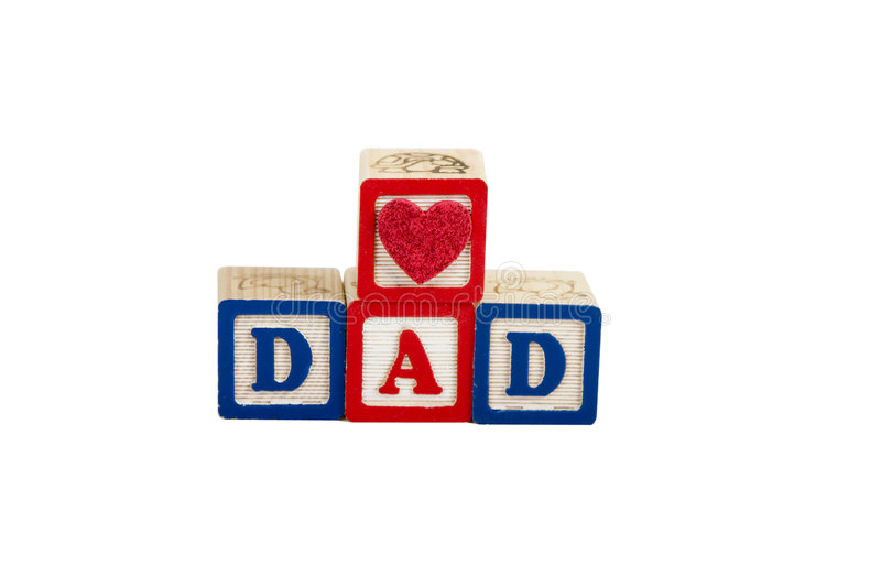 Heart Dad on white with path royalty free stock image