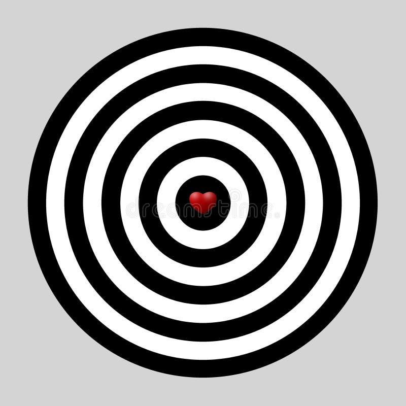 Download Heart dart, target of love stock illustration. Image of decoration - 18218514