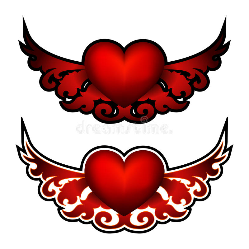 Download Heart. Decorative element stock vector. Image of symbols - 15192306
