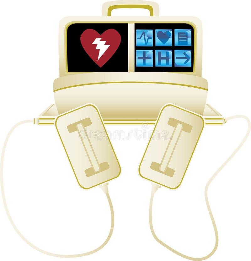 Heart defibrillator - no background stock illustration