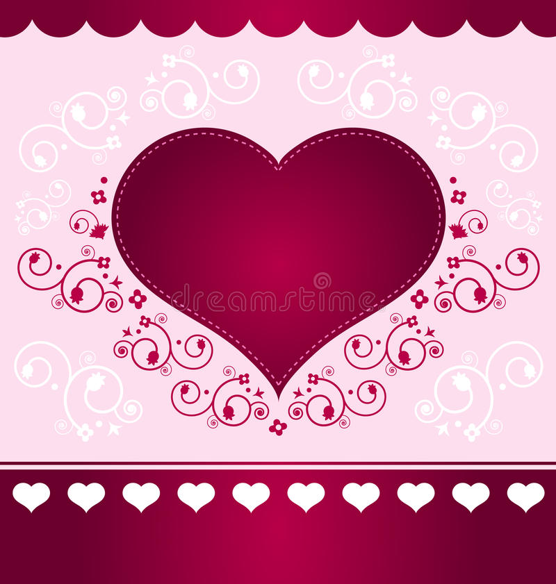 Download Heart Design On Light Pink Background Stock Vector   Illustration  Of Heart, Greeting: