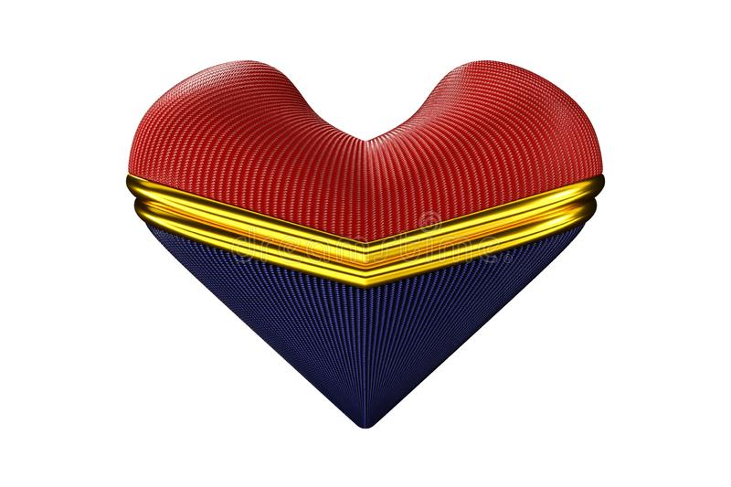Heart designed in accessories royalty free stock photography