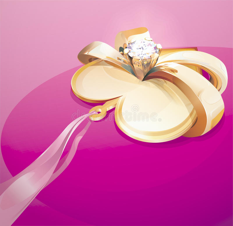 Heart with diamond. Valentine gift royalty free illustration
