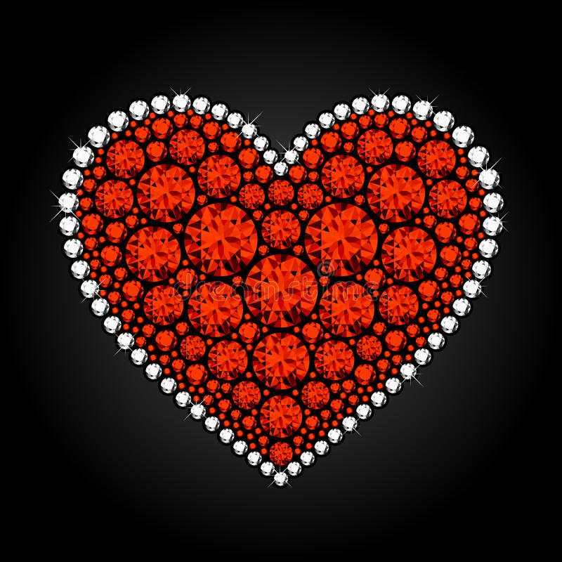 Heart_Diamonds illustration libre de droits