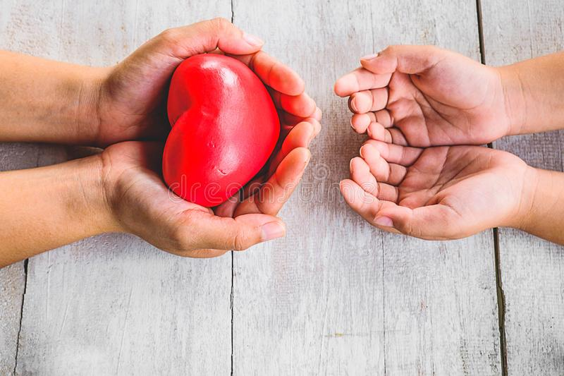 Give heart to sharing. royalty free stock image