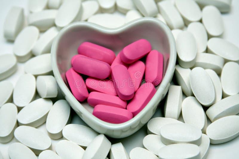 Download Heart dish of Pills stock photo. Image of shape, prescription - 2328724