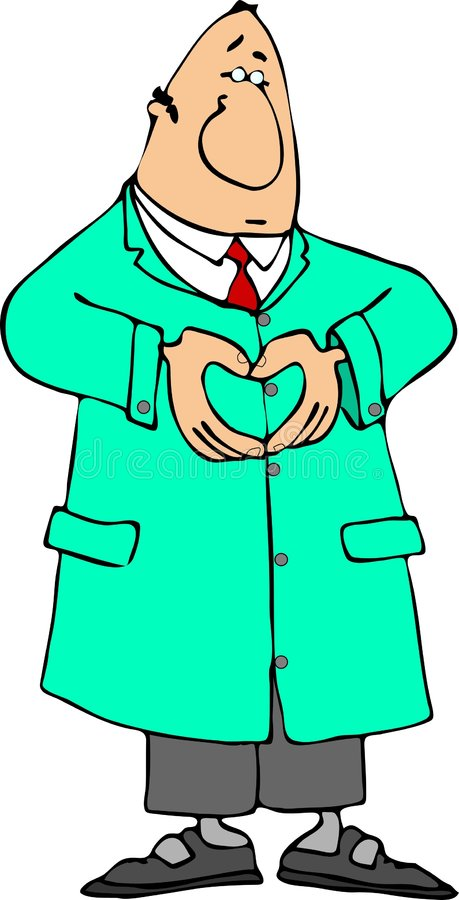 Heart doctor royalty free stock image