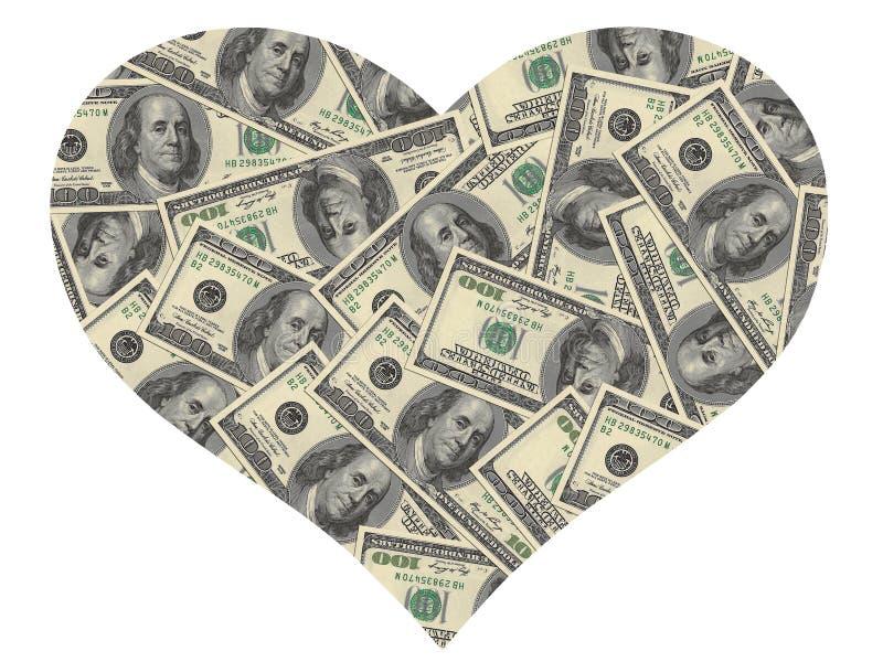 Heart Of The Dollars Stock Photos