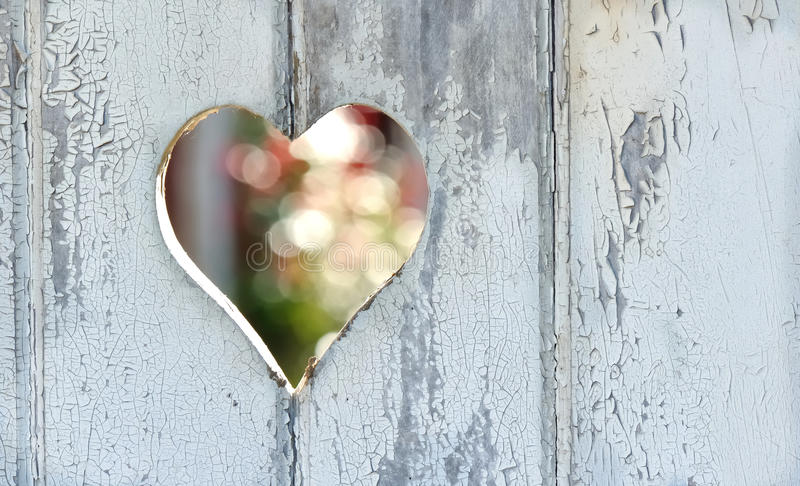 Heart on the door royalty free stock images