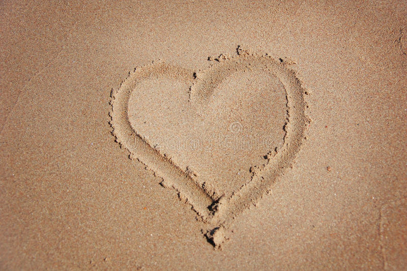 Download Heart Drawn On Sand Royalty Free Stock Photo - Image: 20162075