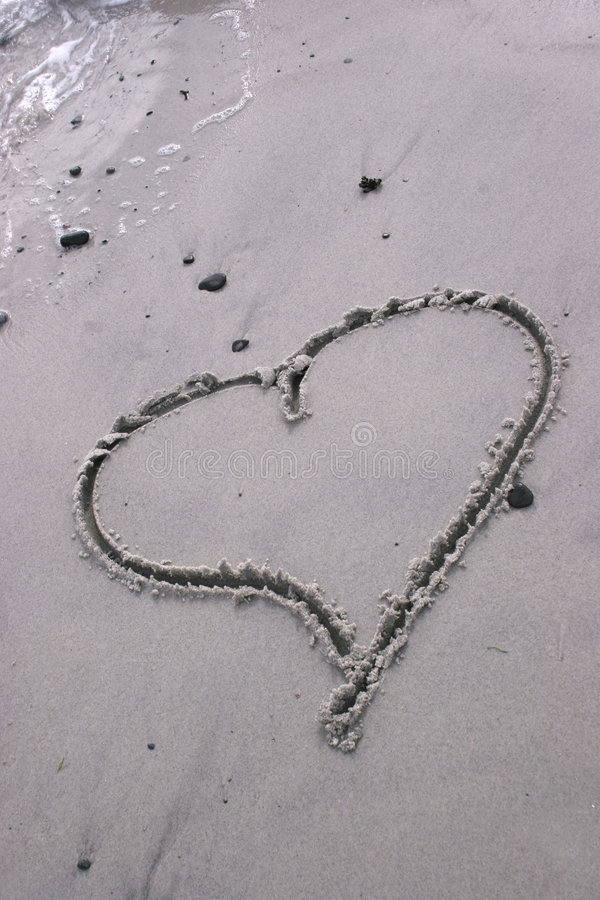 Download Heart drawn in the sand stock image. Image of abstract - 503869