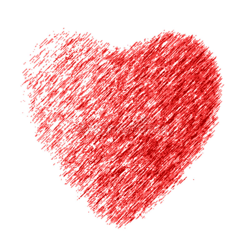 Heart. The drawn heart on a white background royalty free illustration