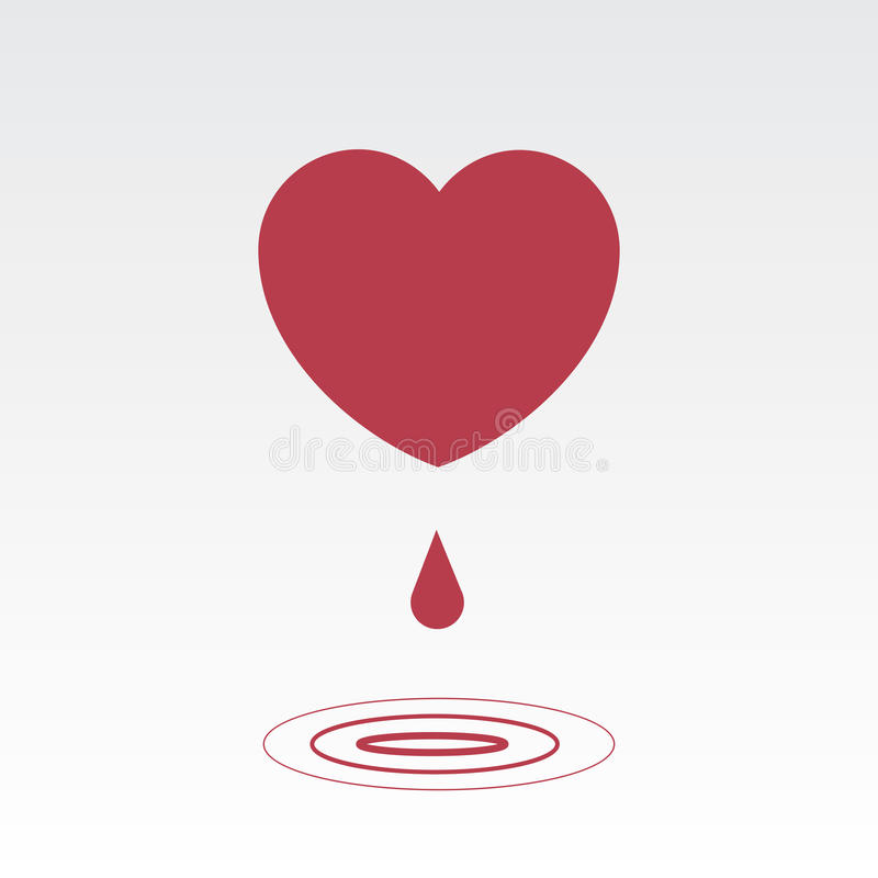 Download Heart Drip stock vector. Image of lost, ripple, pain - 32835310