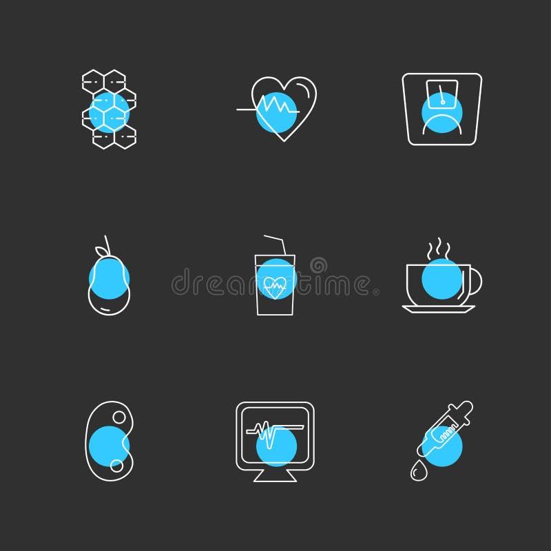 Heart , ecg , dropper, kidney , tea , fruits , health , fitness. Medical , dollar, lock , heart , ecg , pear , kifdnet , beans , medicine , plants , nature stock illustration
