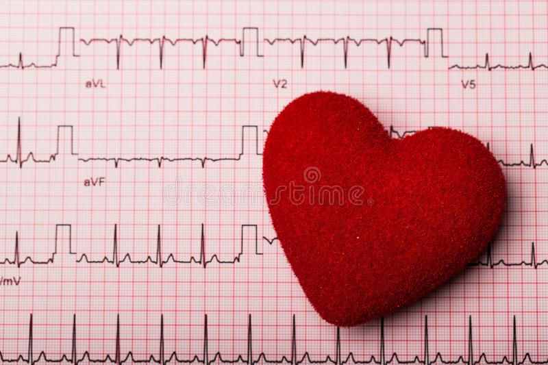 Heart on an ECG Print-out stock photography
