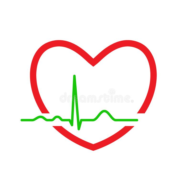 Heart with ekg line. Electrocardiography. Medical design. Vector illustration vector illustration