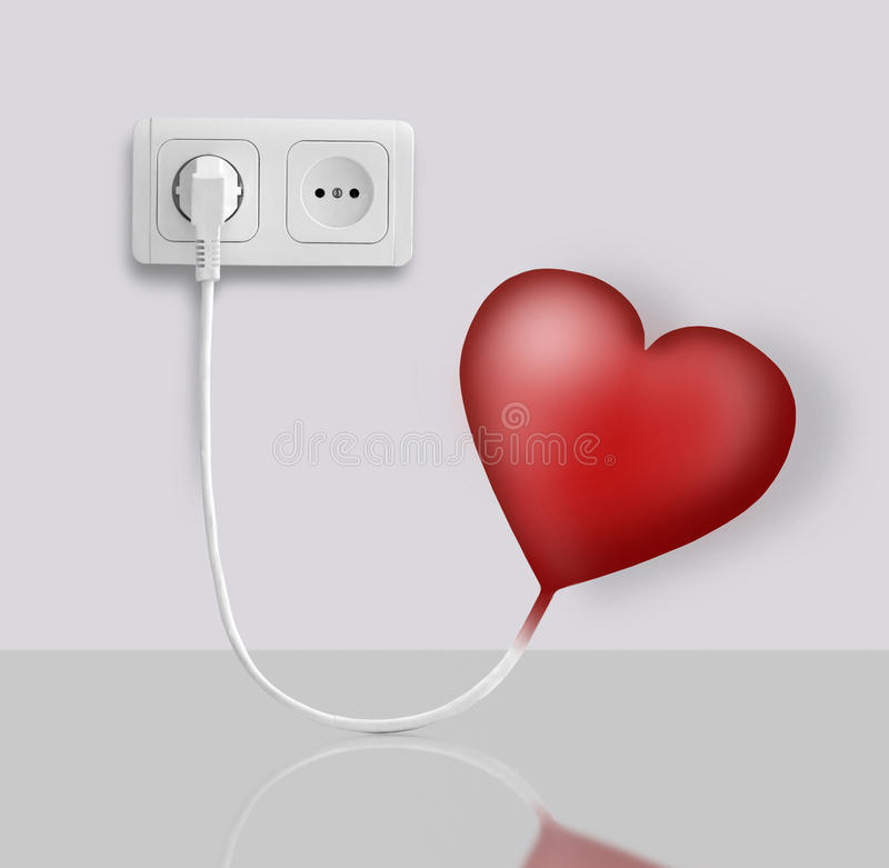 Heart electric. Heart of the electric-operated outlets vector illustration