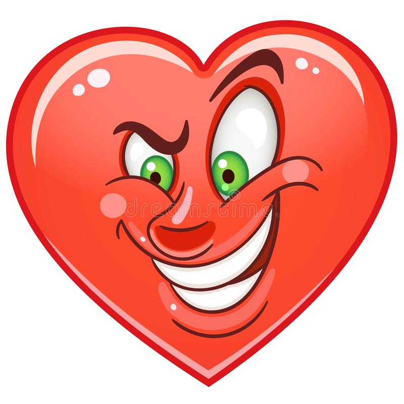 Heart Emoticons Smiley Emoji royalty free stock photos