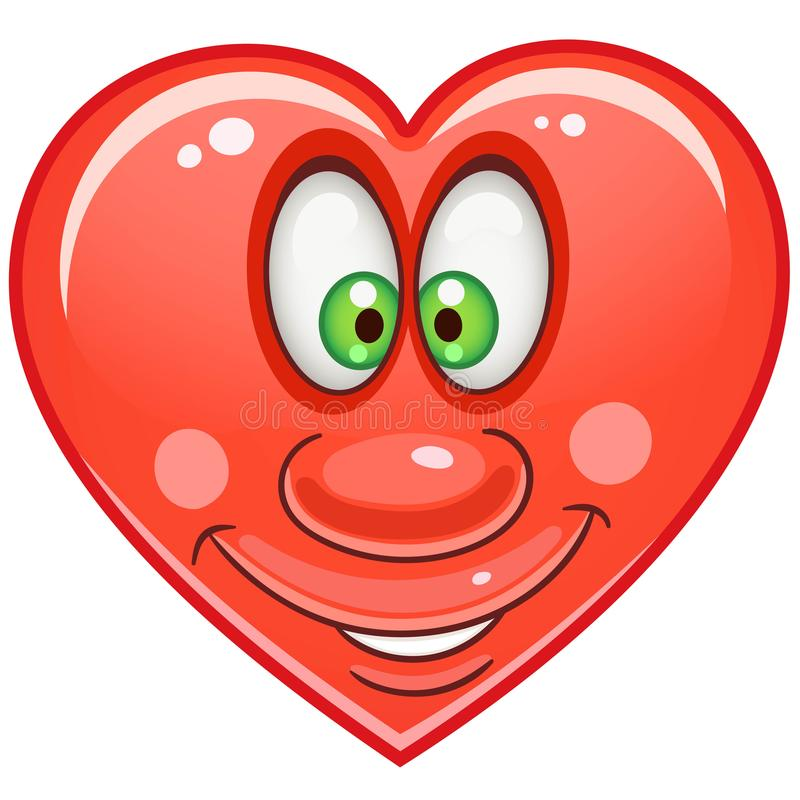 Heart Emoticons Smiley Emoji stock image