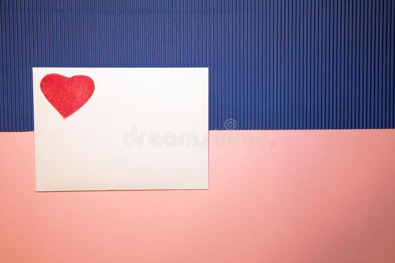 Heart envelope stock photography