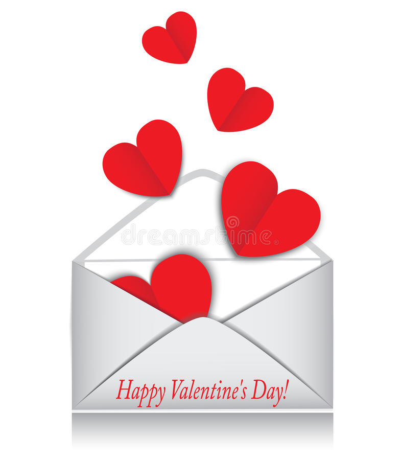Heart, Envelope, Valentine S Day Royalty Free Stock Photography