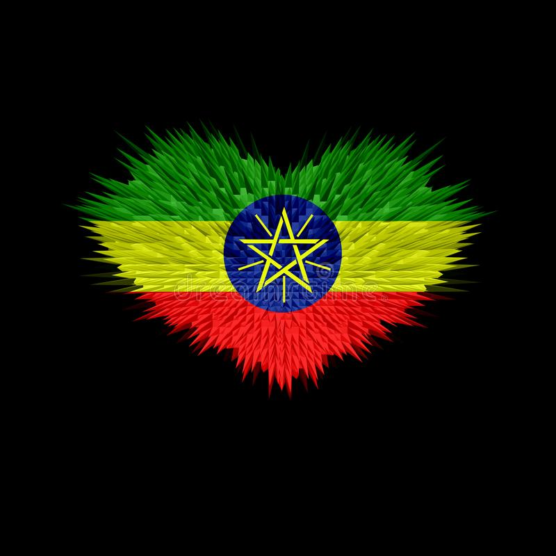 The Heart of Ethiopia Flag. royalty free stock image