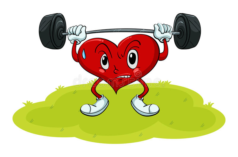 Heart exercise stock vector. Illustration of clipping ...