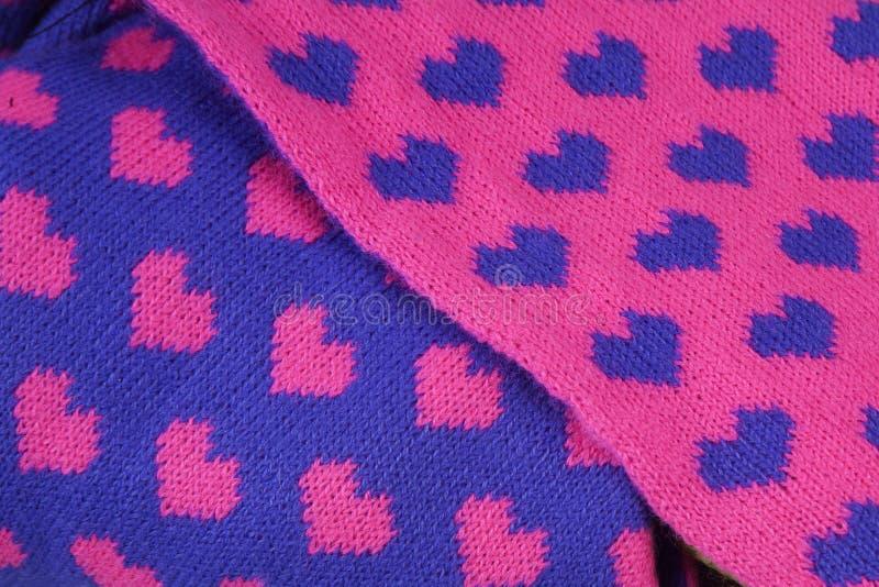 Heart Fabric royalty free stock photos