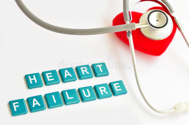 Heart failure. Heart with stethoscope, Heart healthy concept royalty free stock photo