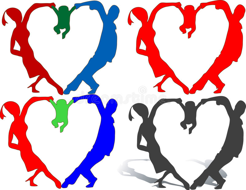 Heart family stock images