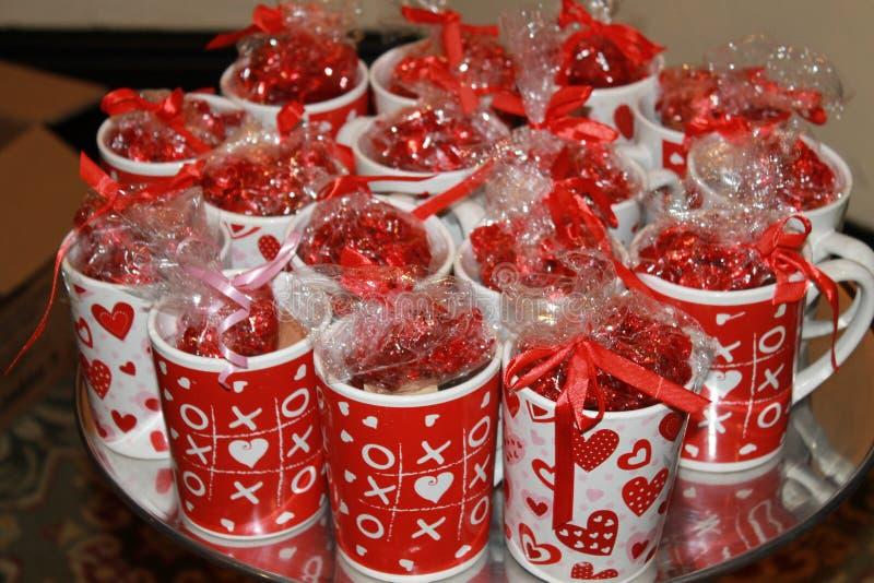 Heart felt mugs royalty free stock images