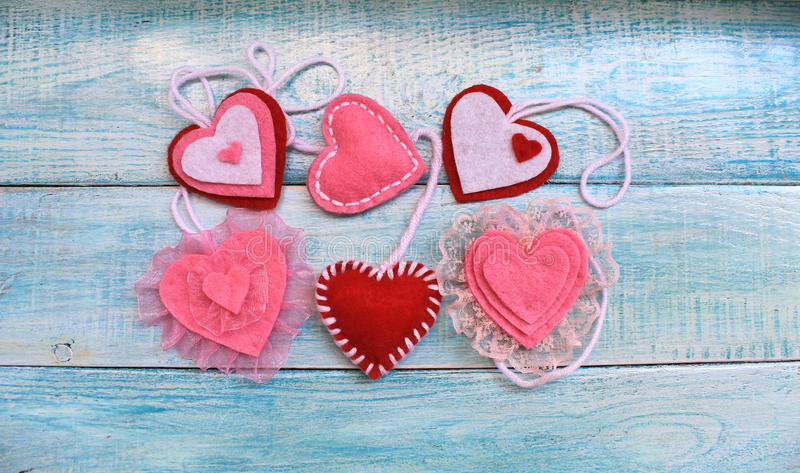 Heart Felt souvenir for Valentine`s Day. Beautiful Heart Felt souvenir for Valentine`s Day royalty free stock photography