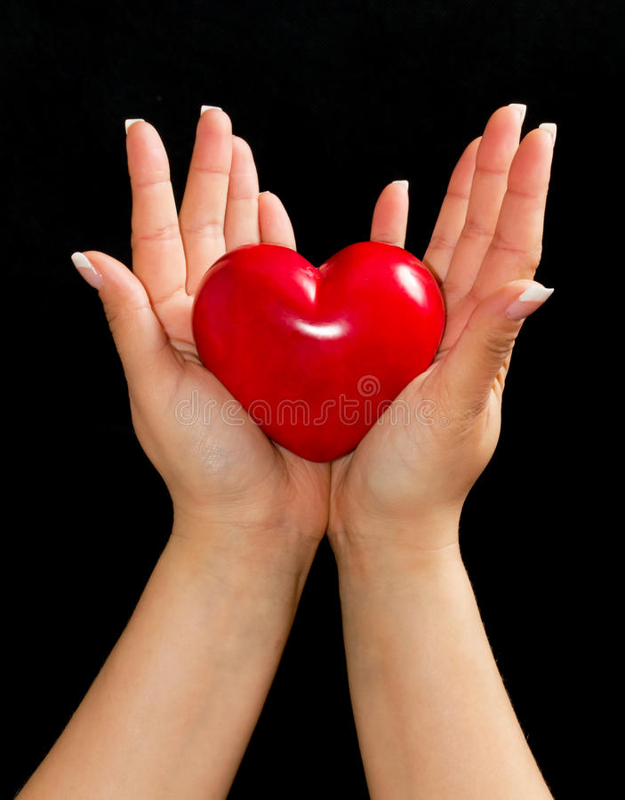 Download Heart in female hands stock image. Image of give, color - 19361781