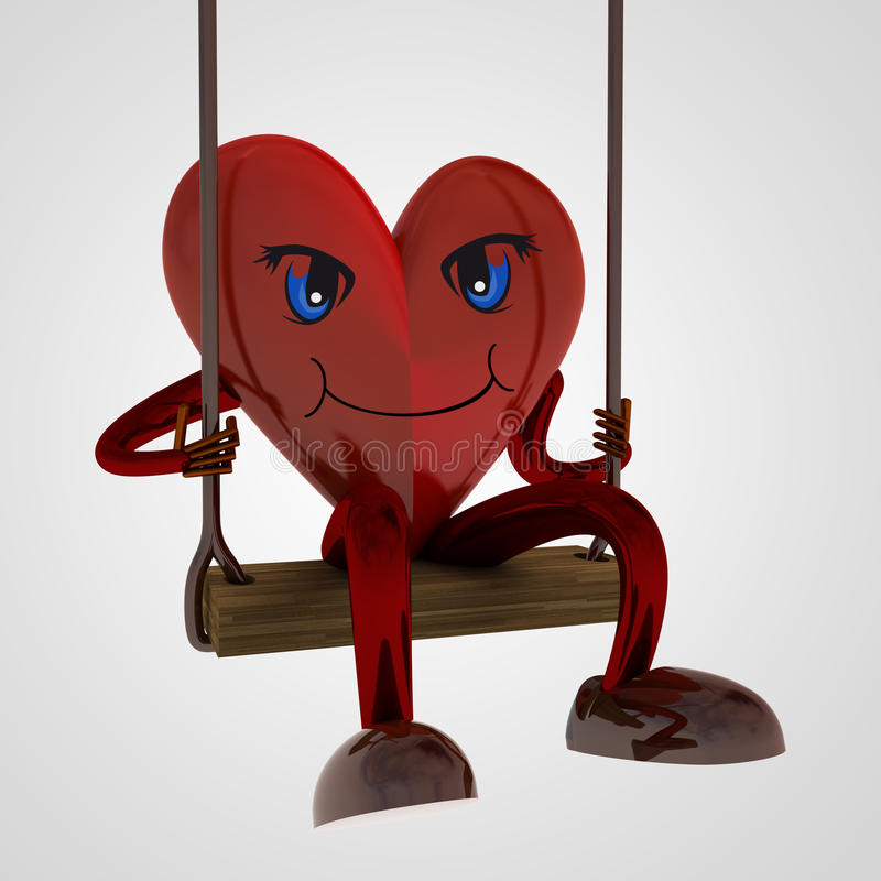 Download Heart Figure Swings On The Seesaw Stock Illustration - Image: 29377311