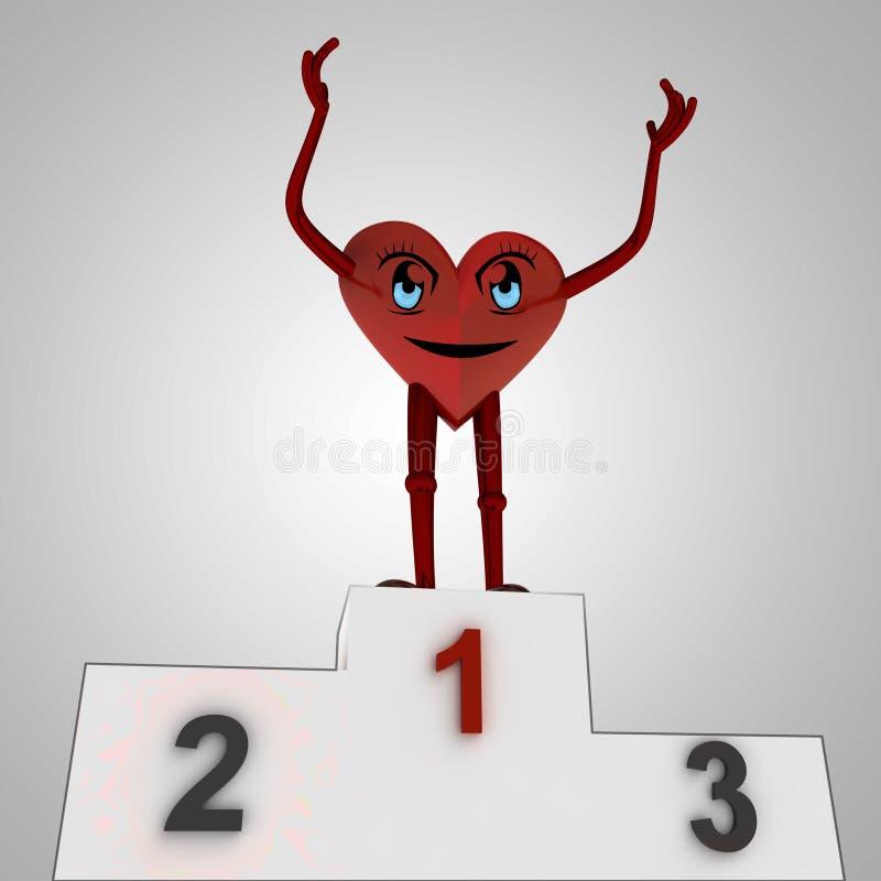 Heart figure wins against disease royalty free illustration