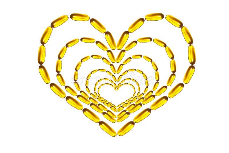 Heart figured omega pills stock photos