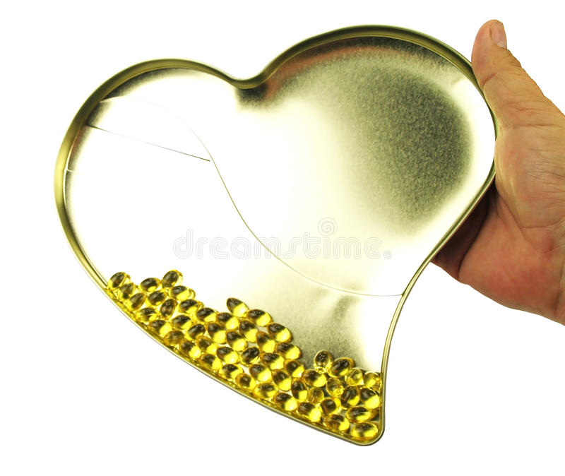 Download Heart filled with omega 3 stock photo. Image of edible - 30507322