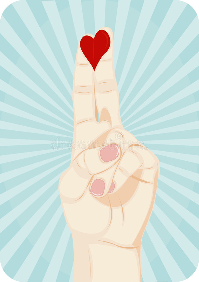 Download Heart On Fingers Stock Image - Image: 8678381